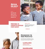 Charity Website  Template 57874