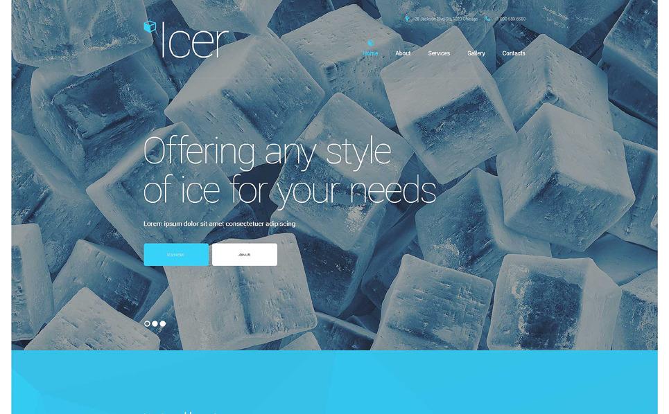 Responsive Website template over Water  New Screenshots BIG