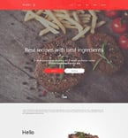 Cafe & Restaurant Website  Template 57878