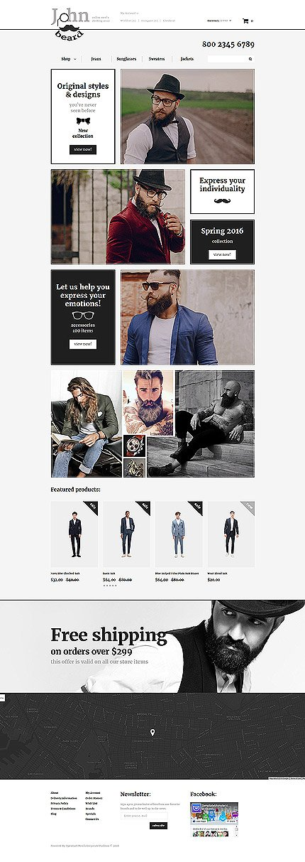 ADOBE Photoshop Template 57887 Home Page Screenshot