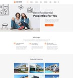 Real Estate Website  Template 57889