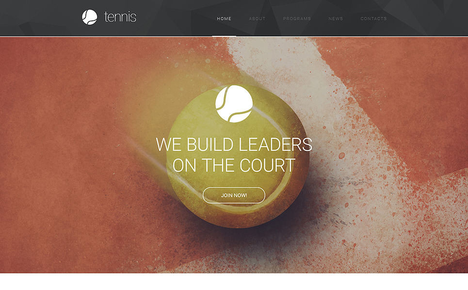 Responsive Website template over Tennis  New Screenshots BIG