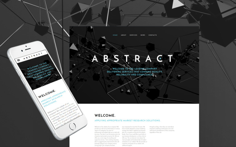 Abstract - Business Responsive Website Template New Screenshots BIG