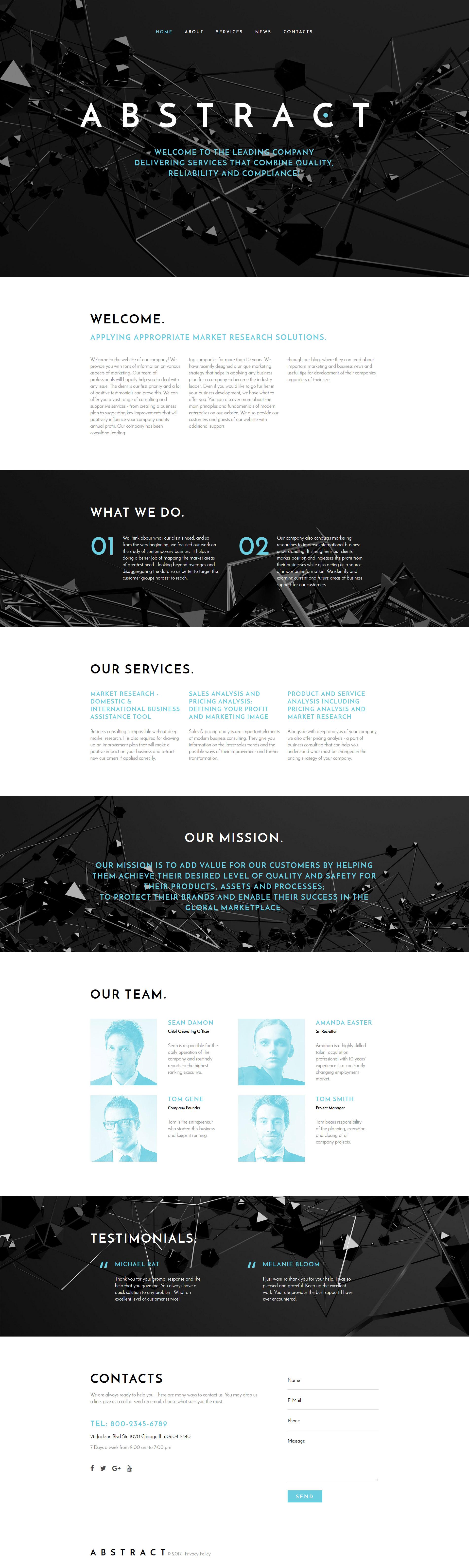Abstract - Business Responsive Website Template - screenshot