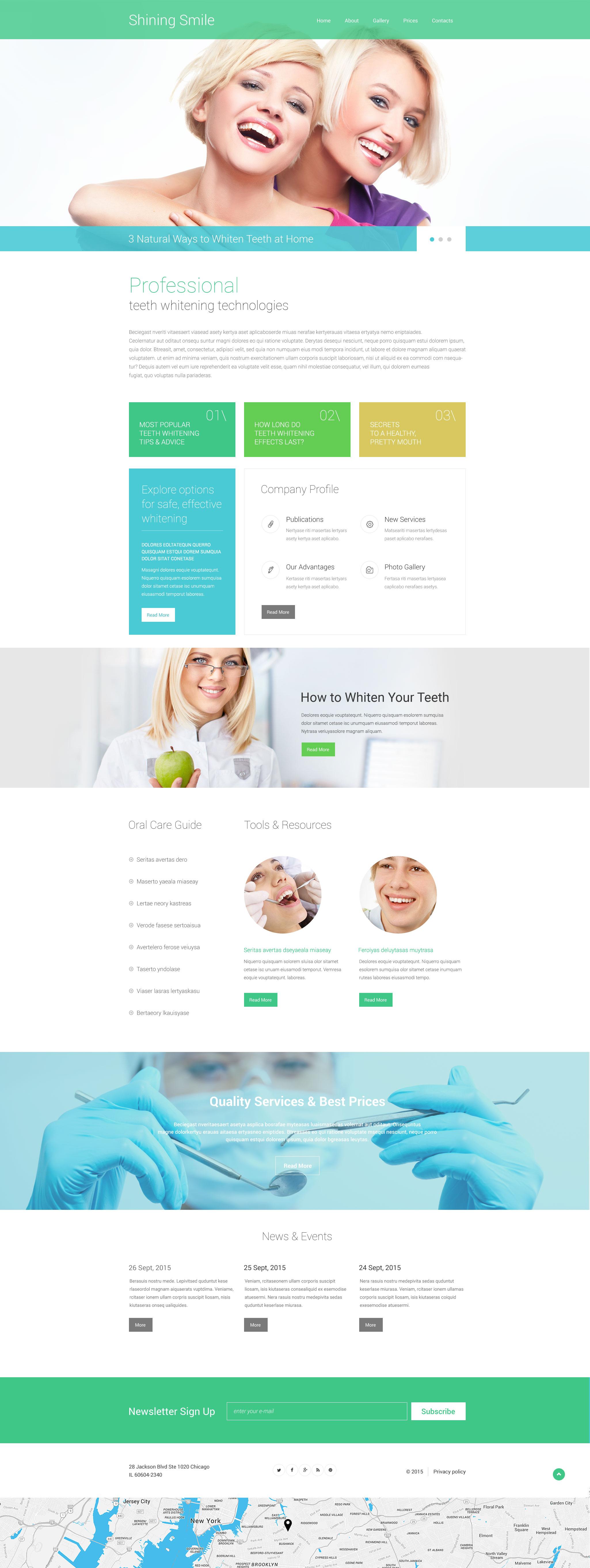 Адаптивний Шаблон сайту на тему стоматологія №57891 - скріншот