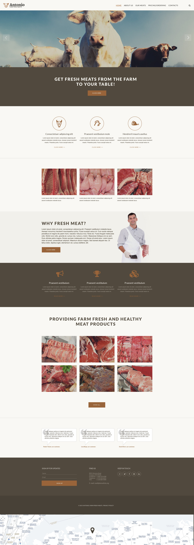 Адаптивний Шаблон сайту на тему велика рогата худоба №57879