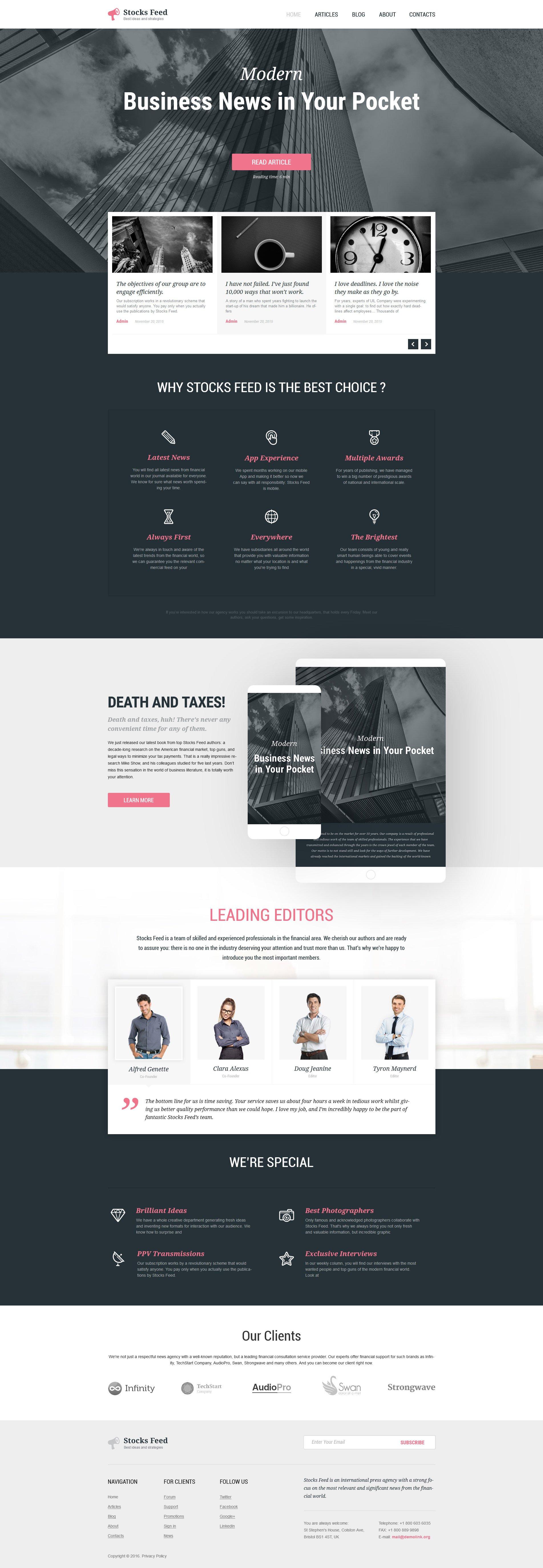 Адаптивний WordPress шаблон на тему бізнес та послуги №57865 - скріншот