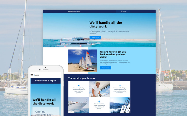 Boat Service Repair Joomla Template New Screenshots BIG