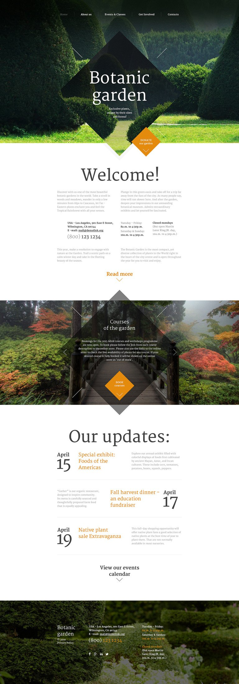 Botanic Garden Website Template New Screenshots BIG