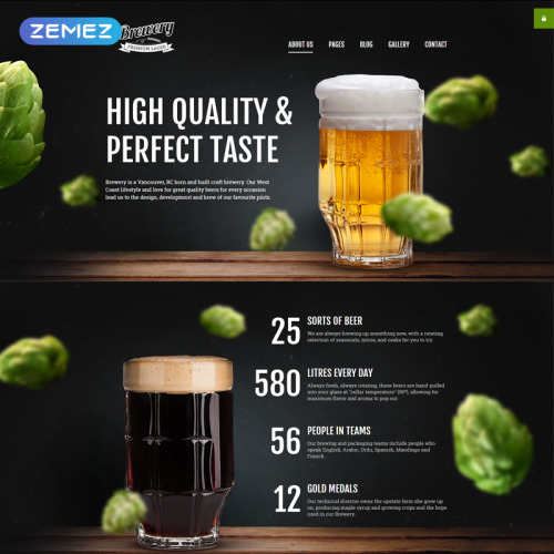 Brewery - Joomla! Template based on Bootstrap