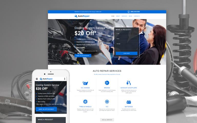 Car Repair Responsive Website Template New Screenshots BIG