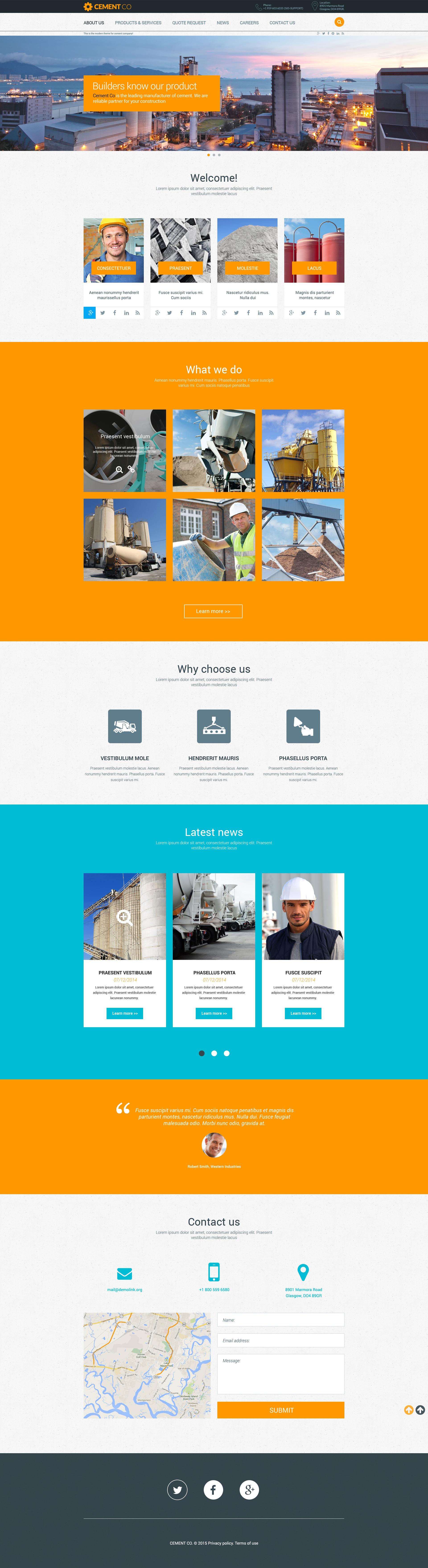 Cement Responsive Website Template - screenshot