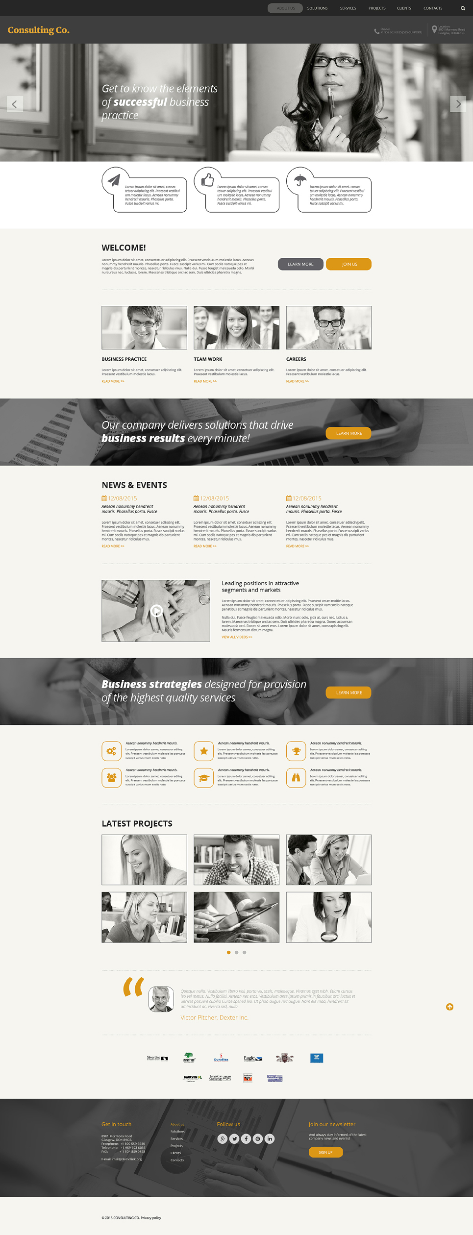 Consulting Responsive Website Template 57863