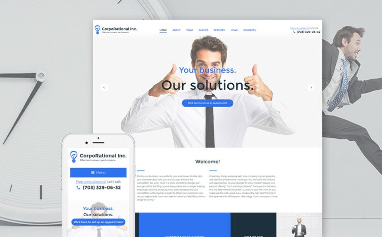 CorpoRational WordPress Theme New Screenshots BIG