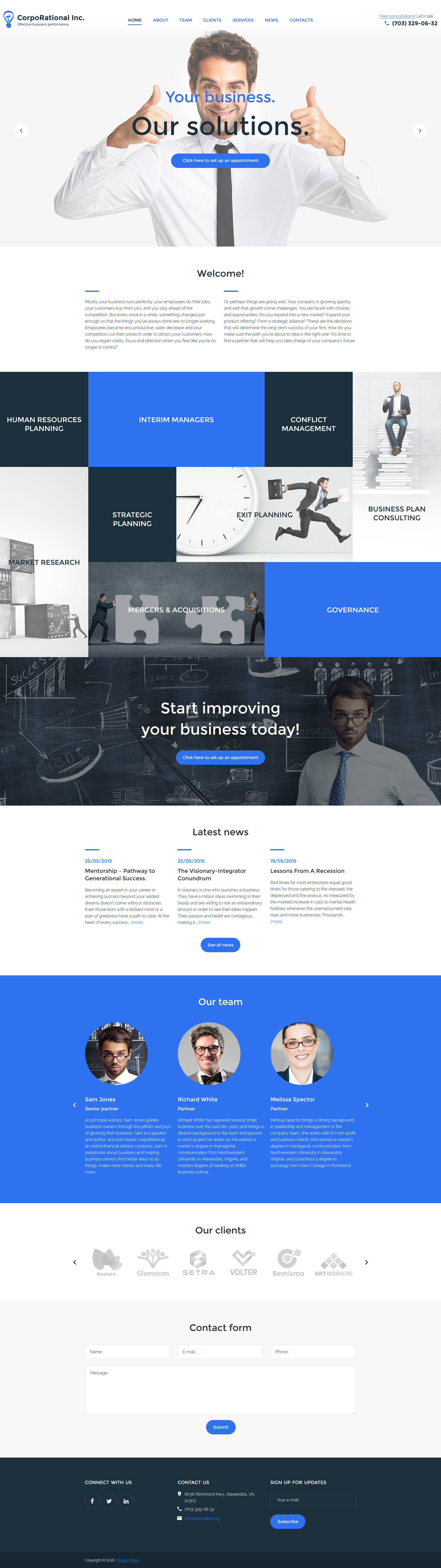 CorpoRational WordPress Theme - screenshot