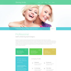 dentistry website themes with parallax scrolling effect