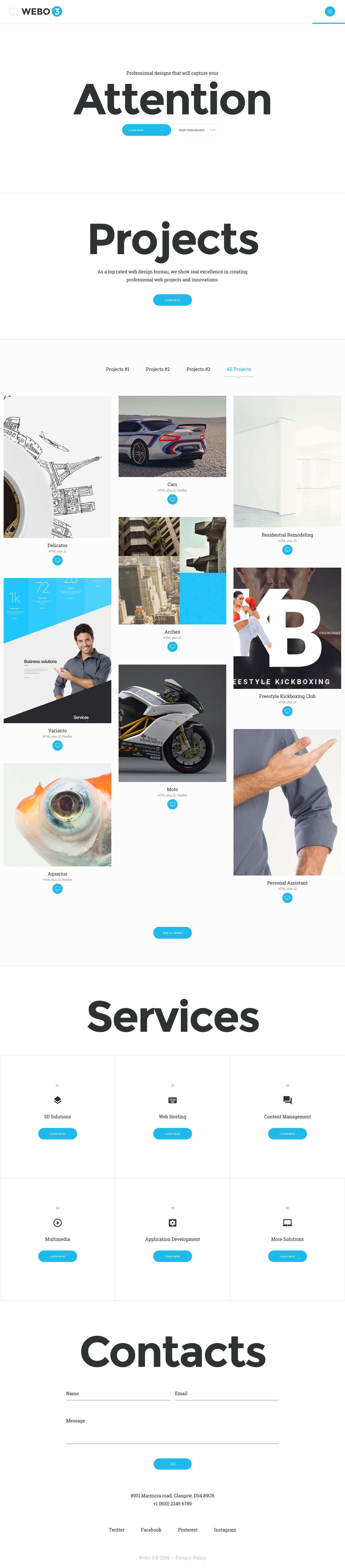 Design Studio Responsive Website Template - screenshot