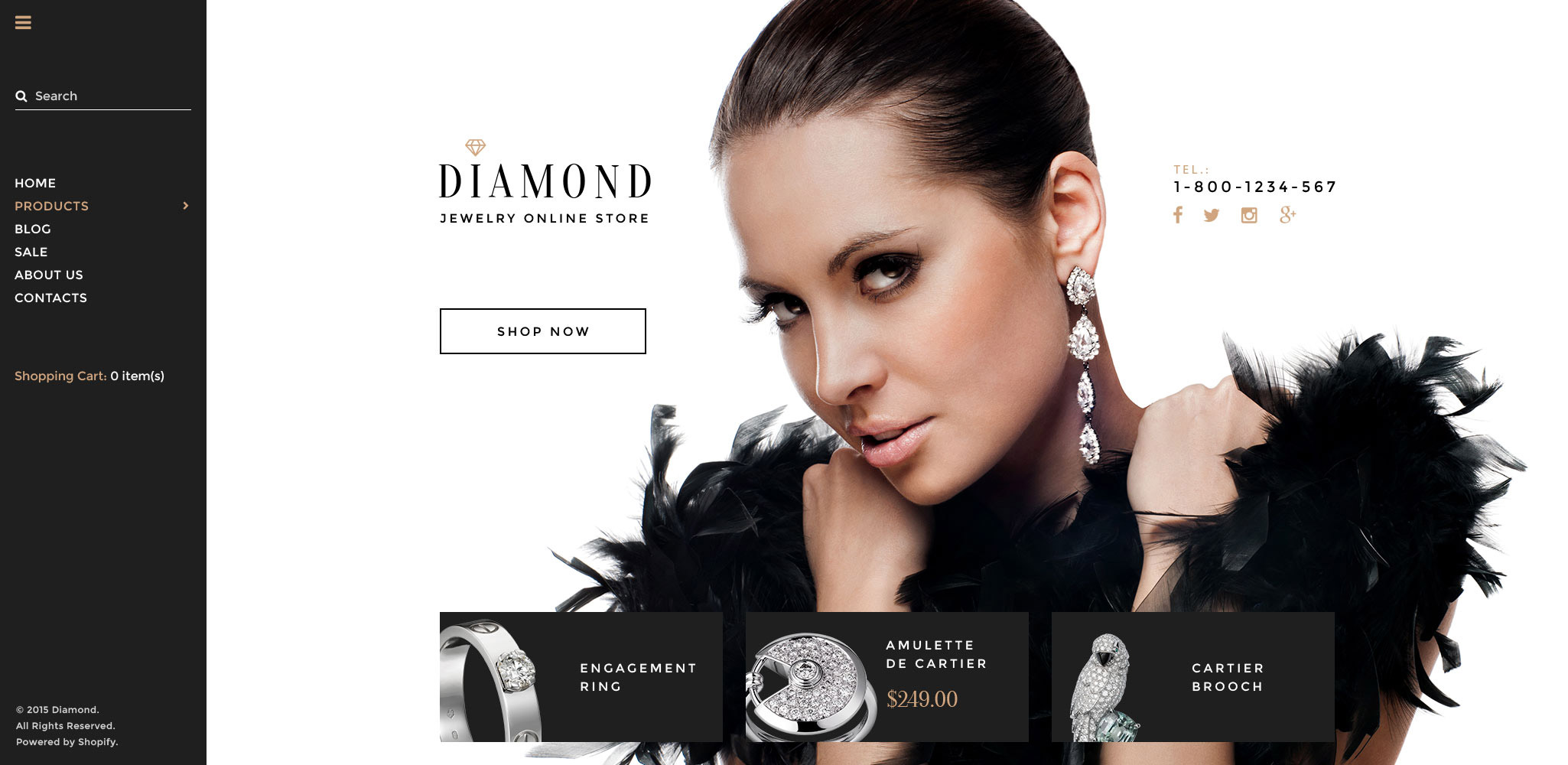 Diamond Shopify Theme - screenshot