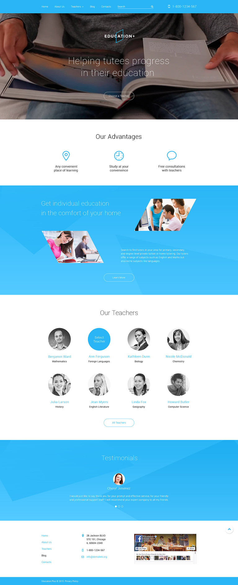 Education Drupal Template New Screenshots BIG