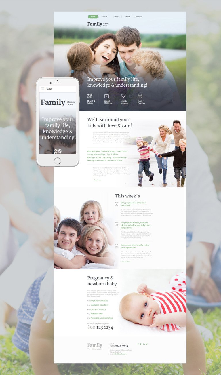 Family Centre Website Template New Screenshots BIG