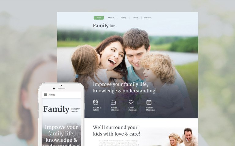 Family Centre Website Template