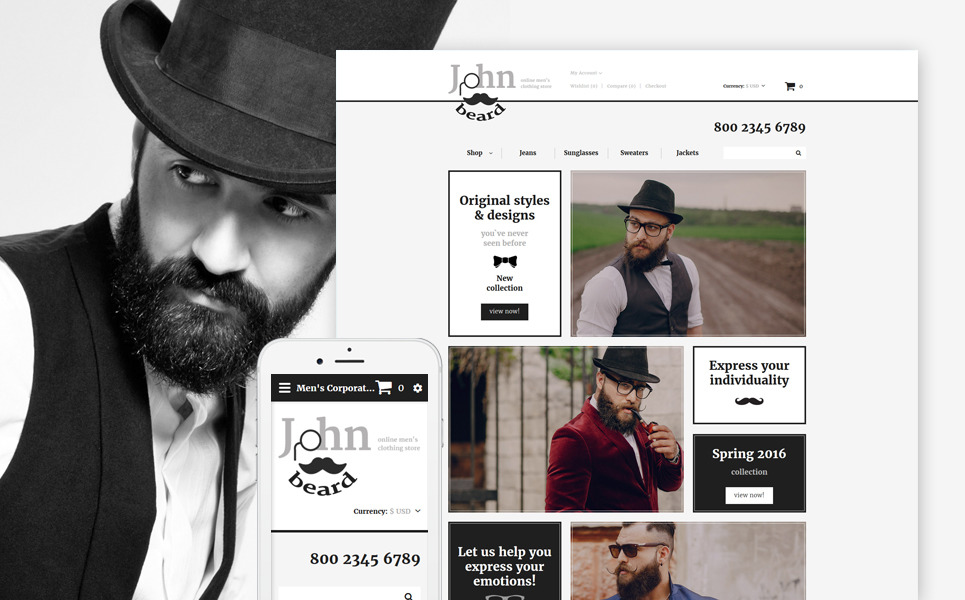 Fashion Store Responsive OpenCart Template New Screenshots BIG