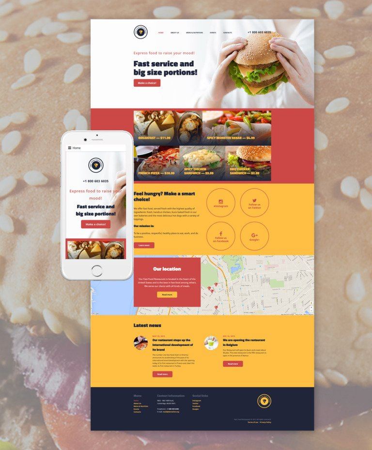 Fast Food Restaurant Website Template New Screenshots BIG