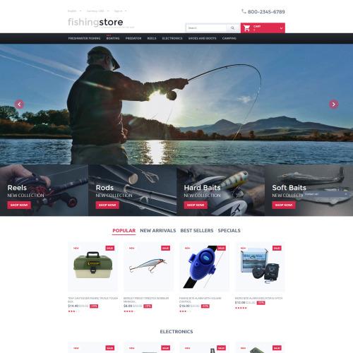 Fishing Store - PrestaShop Template based on Bootstrap