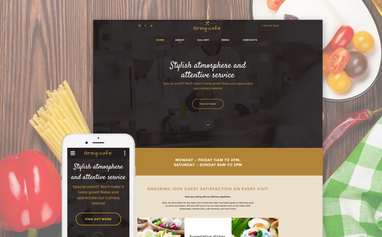 Greig Cafe Website Template New Screenshots BIG