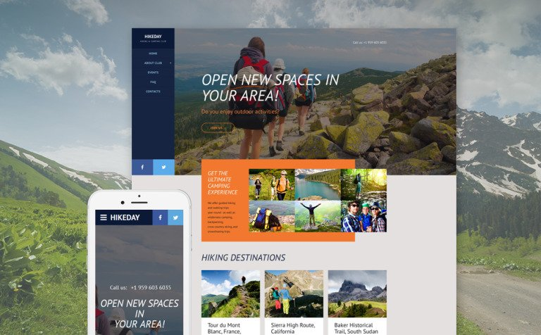 Hikeday Website Template