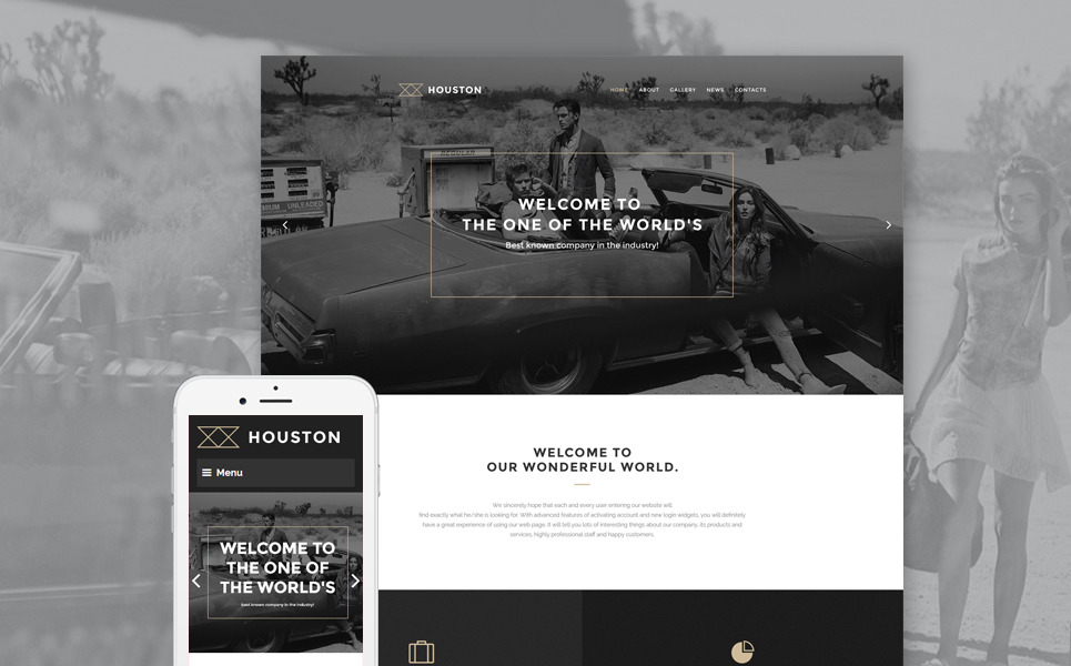 Houston WordPress Theme New Screenshots BIG