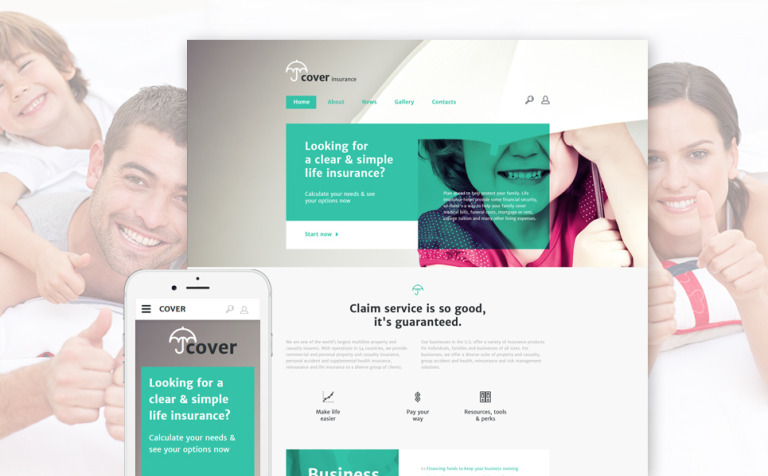 Insurance Site Template