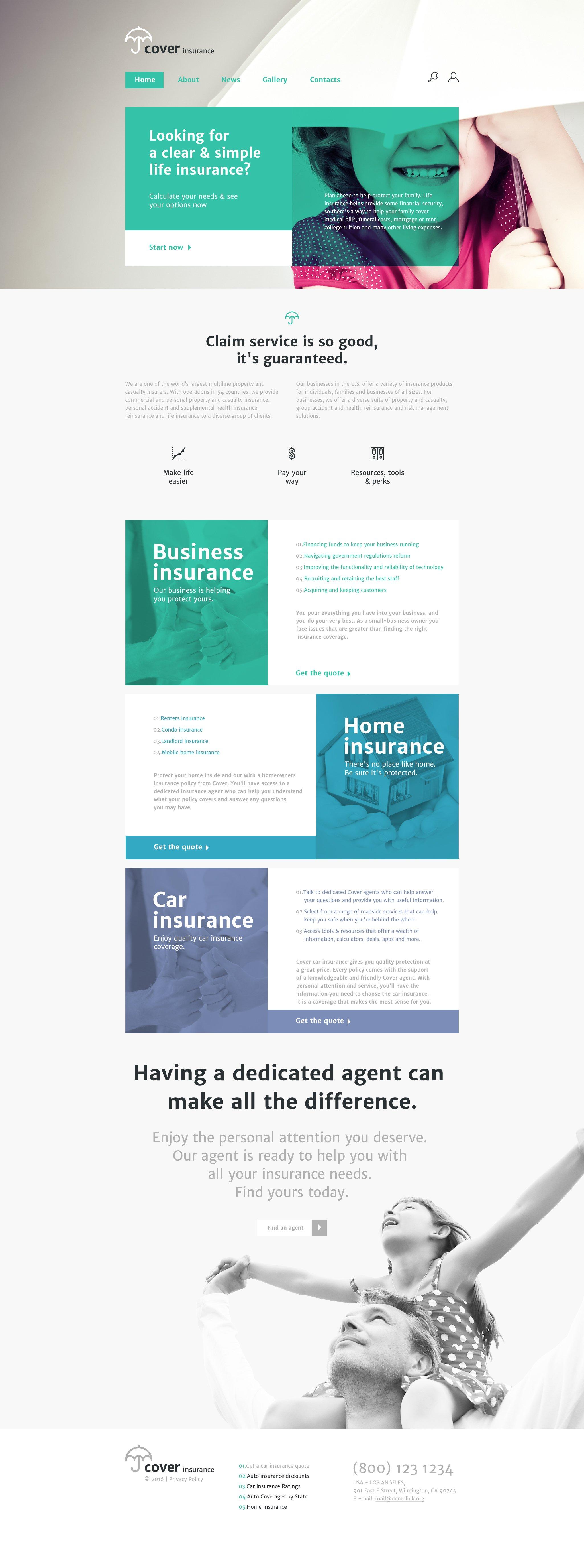 Insurance Website Template