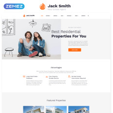 jack smith real estate multipage clean html