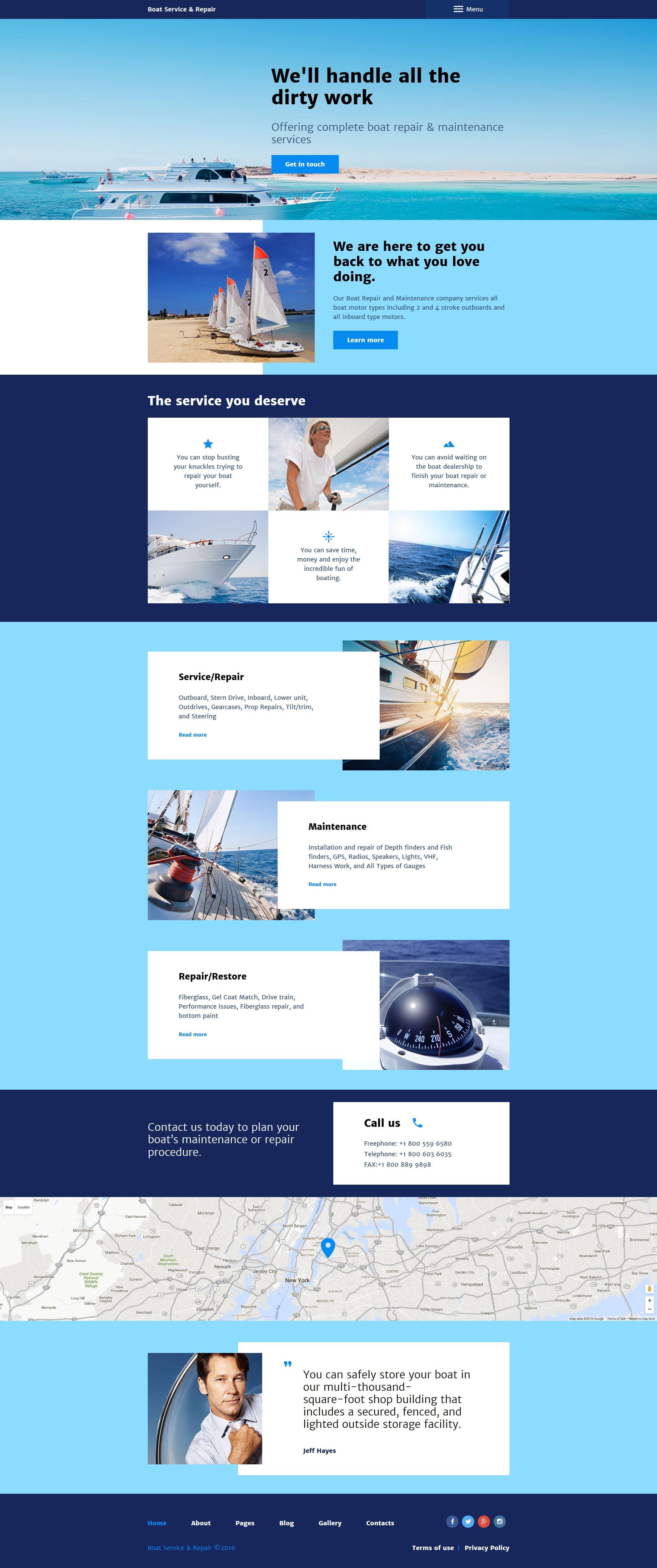 "Joomla Vorlage namens ""Boat Service  Repair"" #57845"