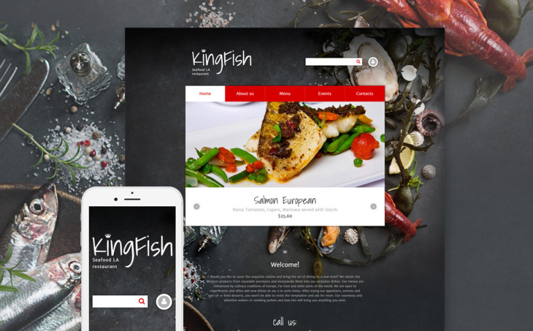 KingFish Drupal Template New Screenshots BIG