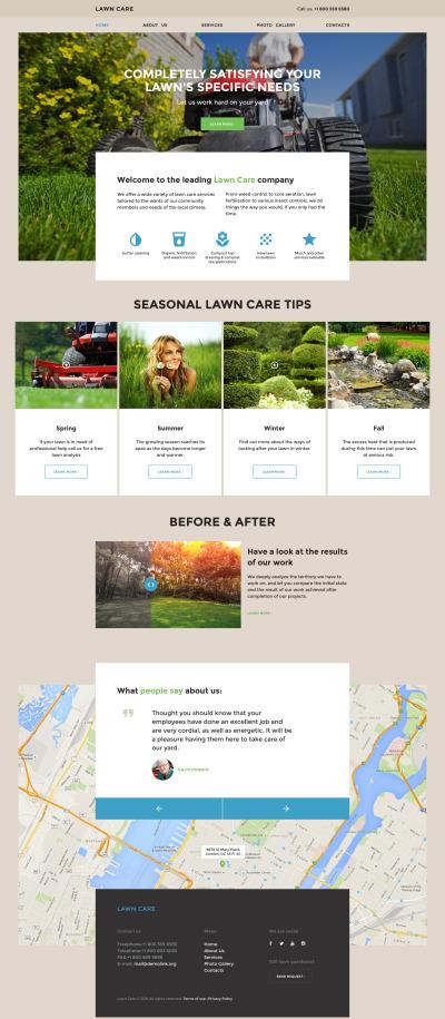 Modèle Web adaptatif  pour site de services de tonte de la pelouse