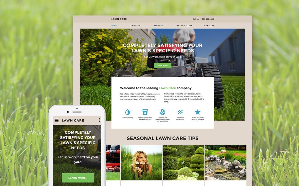 Lawn Care Responsive Website Template Big Screenshot 5kqfObEF
