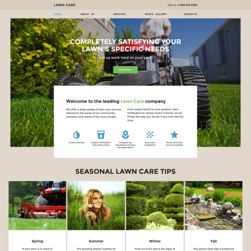 Lawn Care - Responsive Website Template