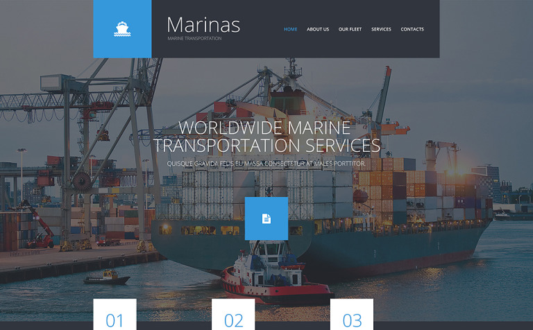Maritime Responsive Website Template