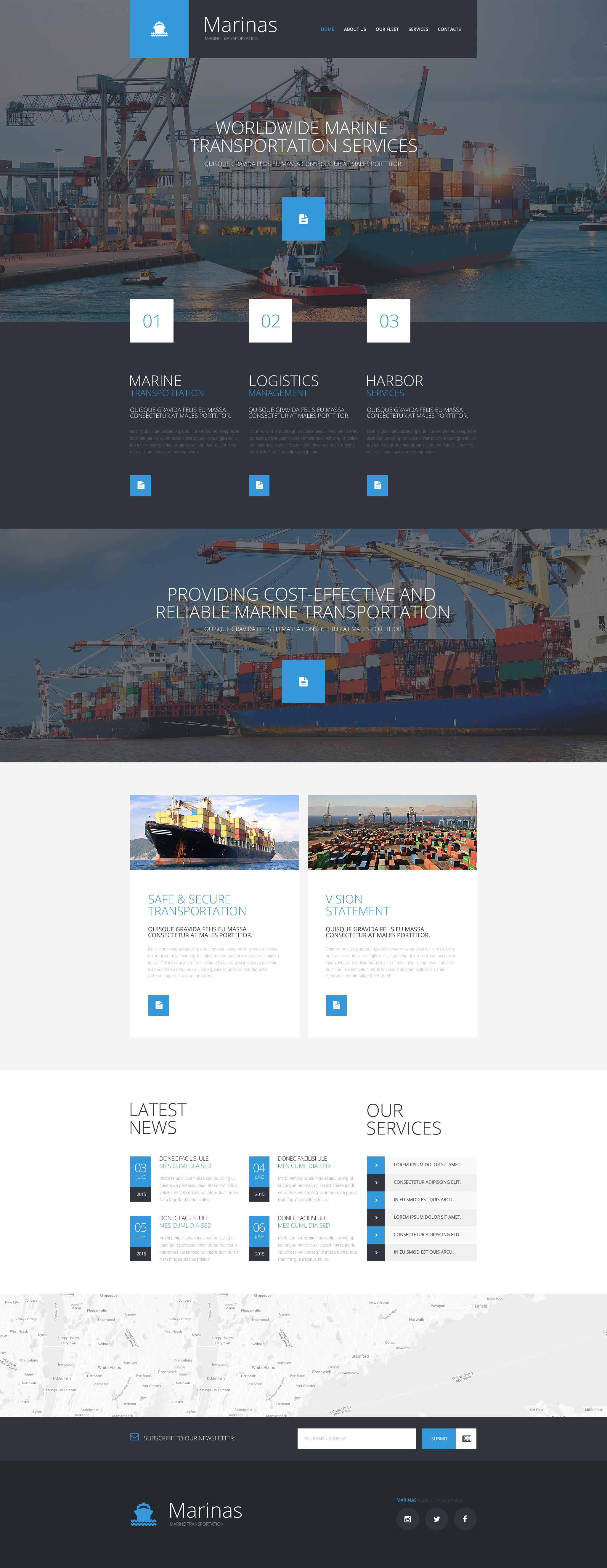 Maritime Responsive Website Template - screenshot