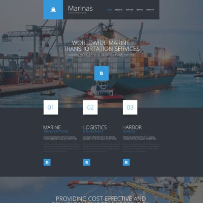 Shipping Website Template