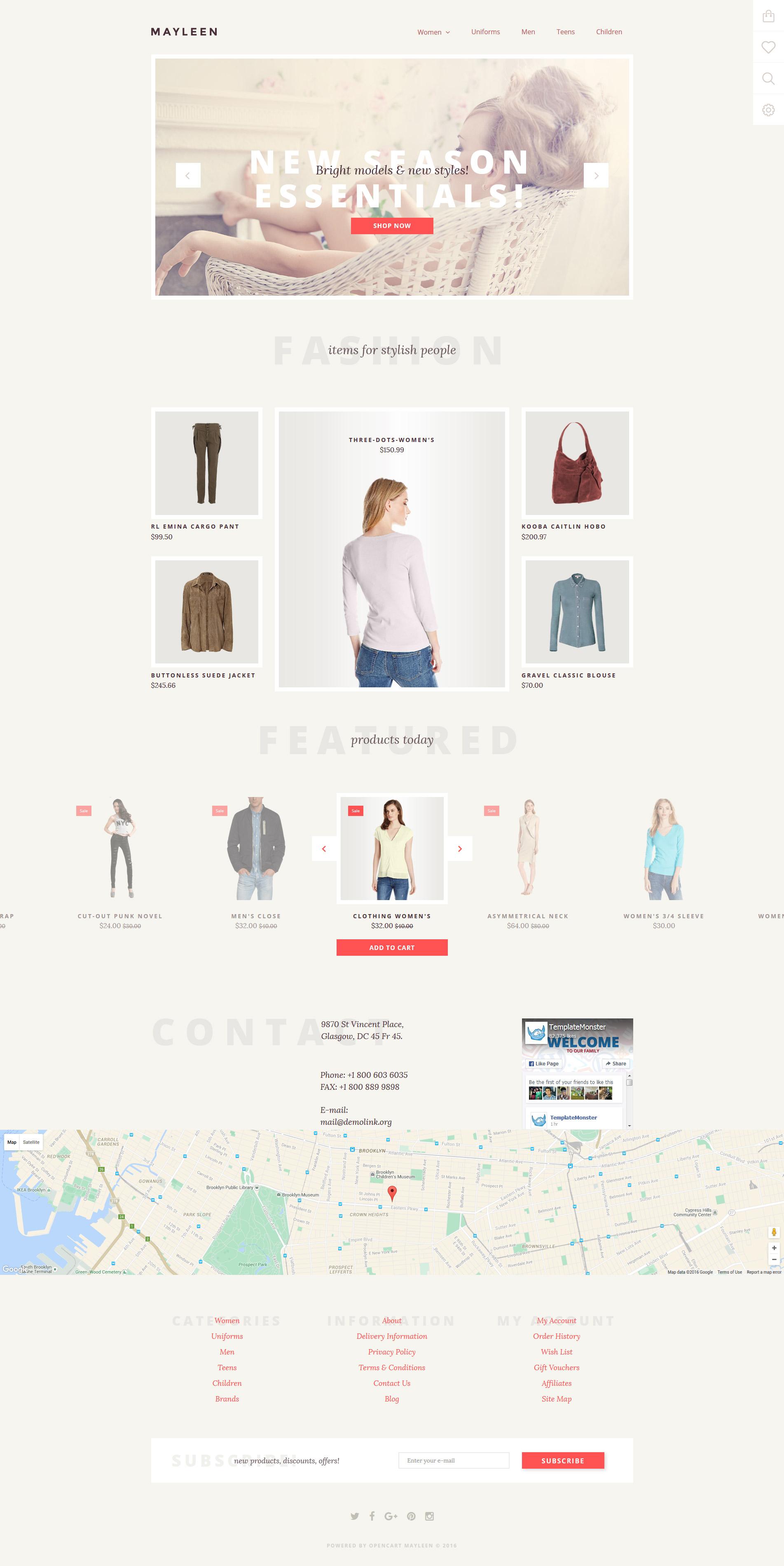 Mayleen OpenCart Template - screenshot