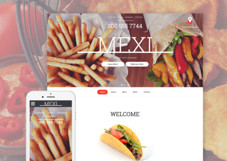 Mexican Restaurant Responsive