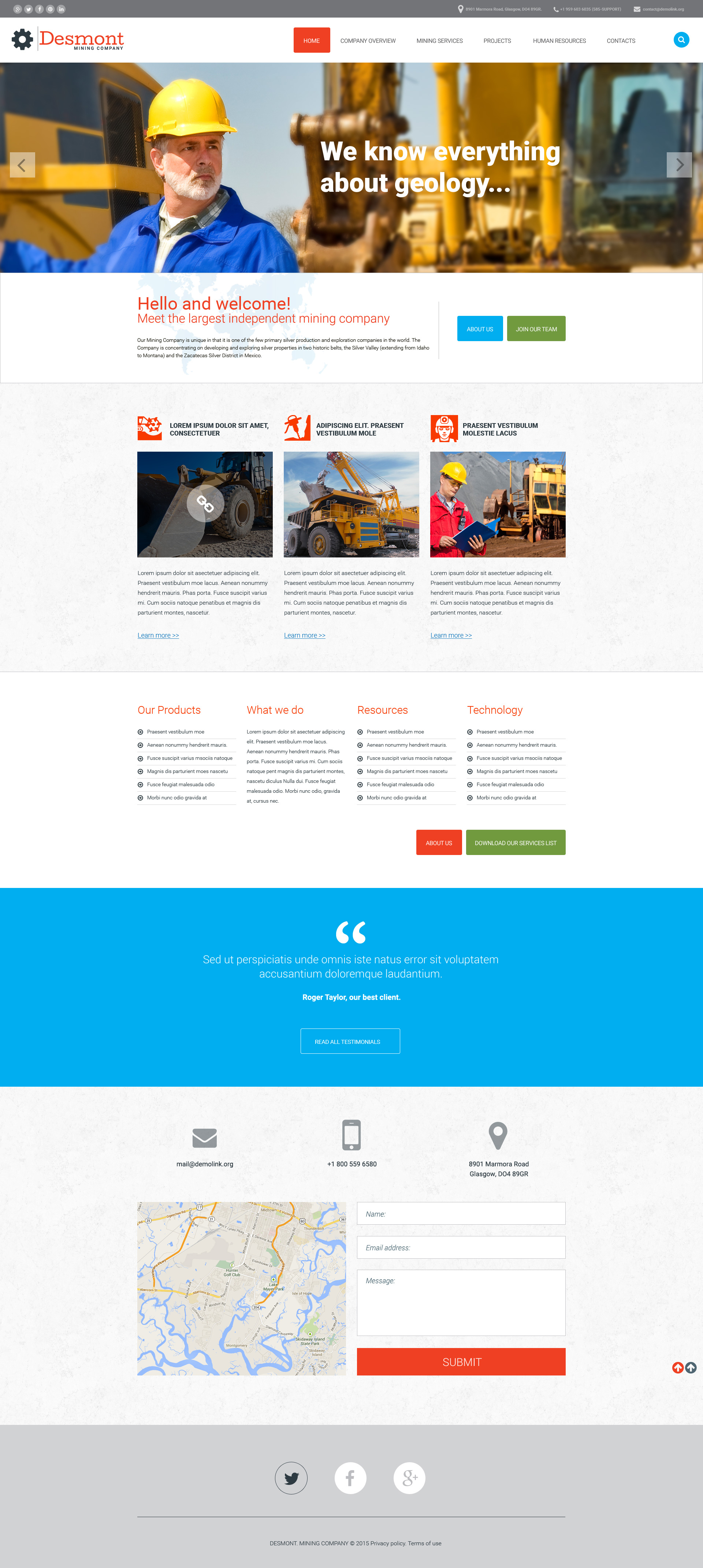 Mining Company Responsive Website Template #57893