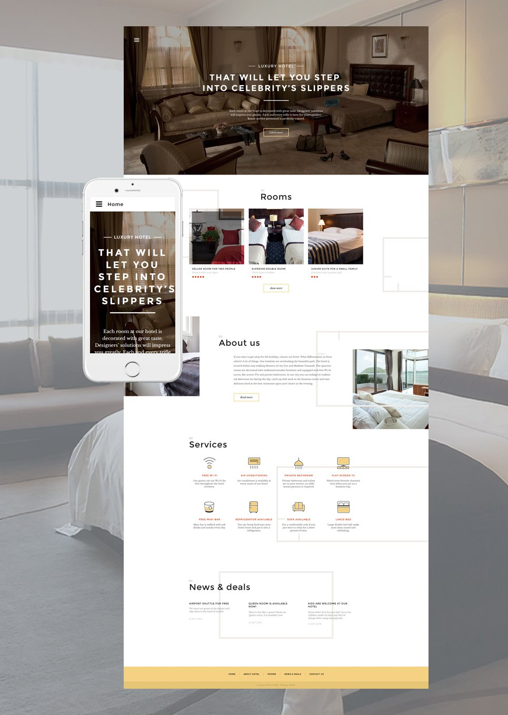 Mod le web adaptatif 57805 pour site d 39 h tel for Site web pour hotel