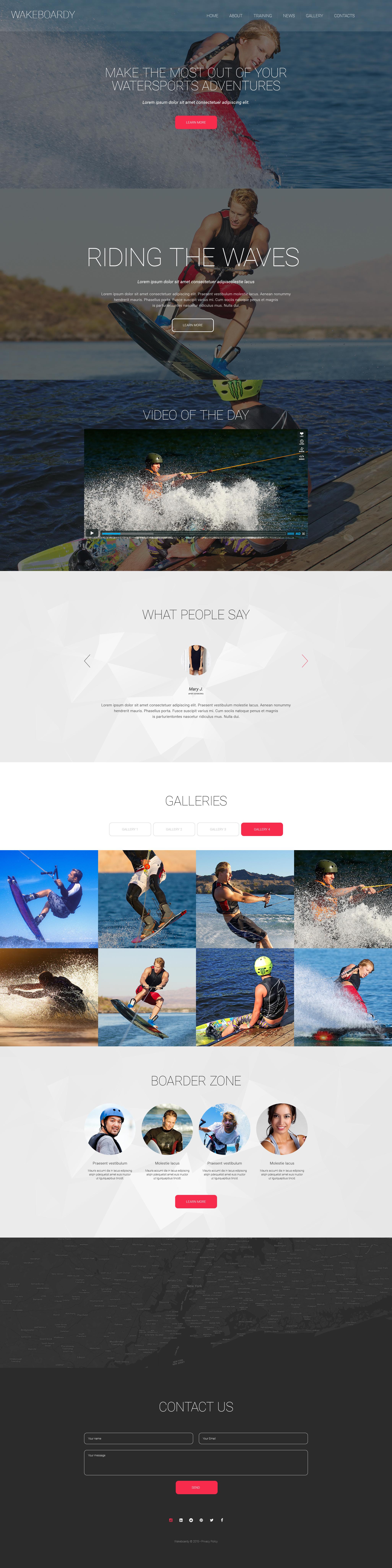 Modello Siti Web Responsive #57890 per Un Sito di Wakeboarding