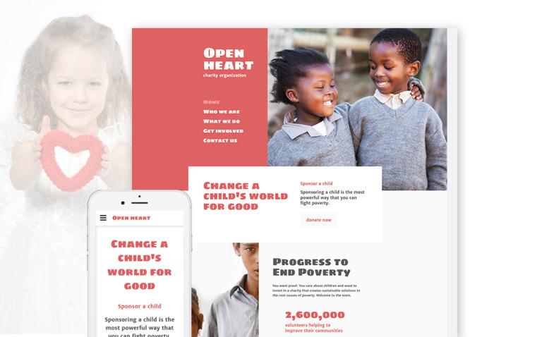 Open Heart Website Template New Screenshots BIG
