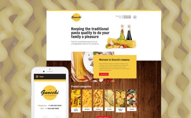 Pasta and Ravioli Website Template