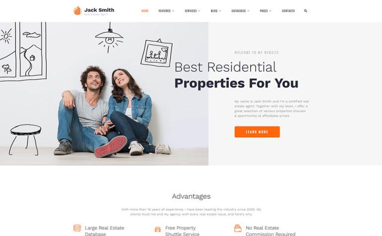 Plantilla Web #57889 para Sitio de Agencias inmobiliarias